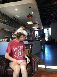 I showed my two dear Seattle friends one of my favorite coffee shops